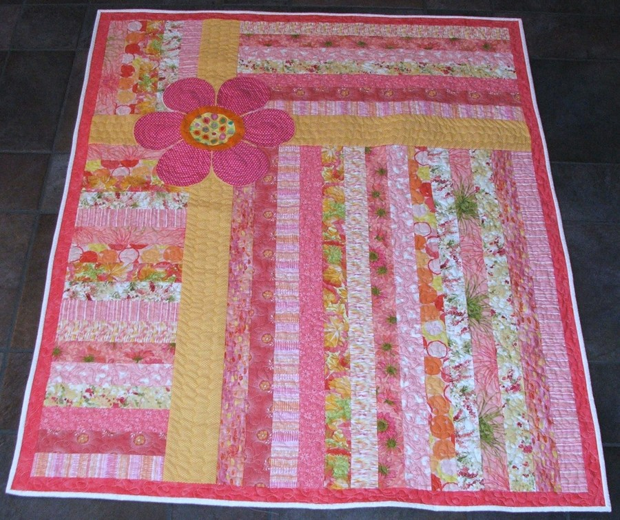 Quick Jelly Roll Quilt with Daisy. Future inspiration | Baby quilt ...