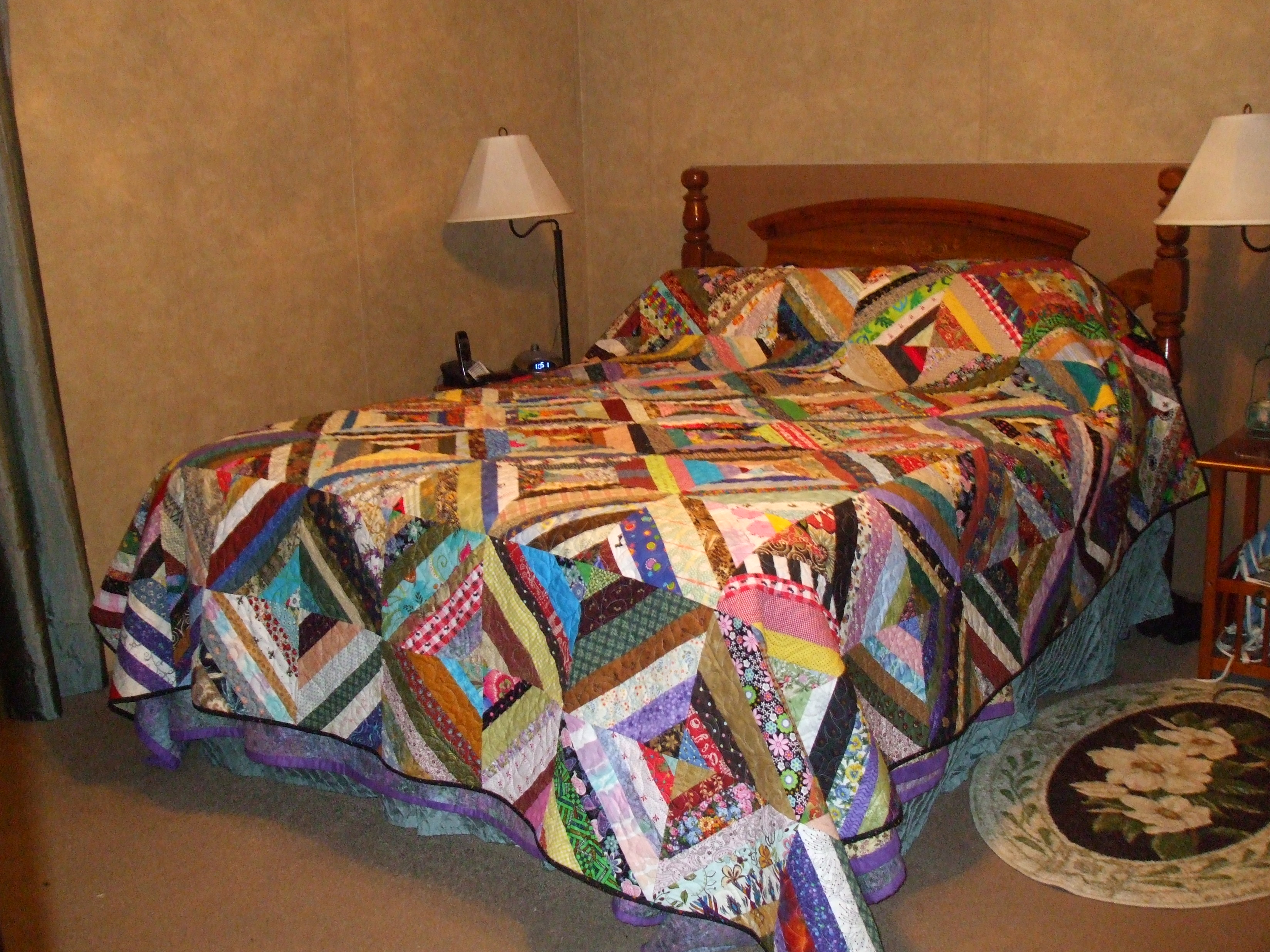 Name:  emb. scrap quilt finished.JPG Views: 1444 Size:  1.83 MB
