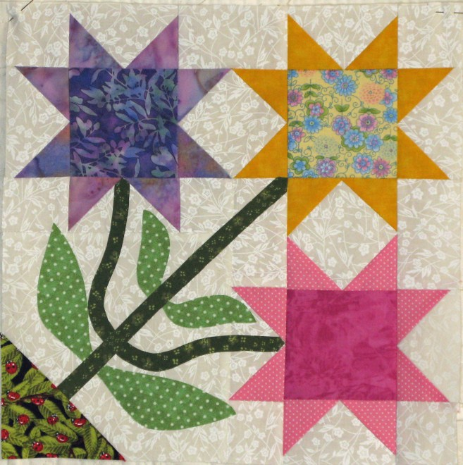 Name:  Block # 8 Pieced Flowers (657 x 660).jpg
