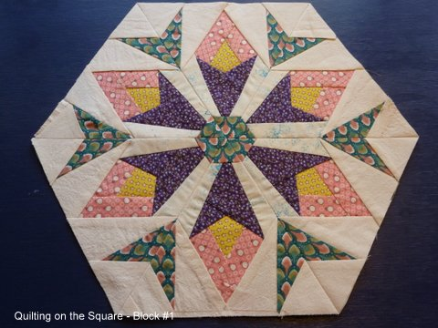 Name:  Block 1 - Quilting on the Square.JPG