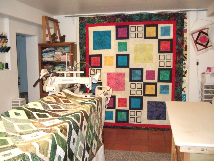Name:  Brooke's quilt and 2nd Chain Link web ready.JPG