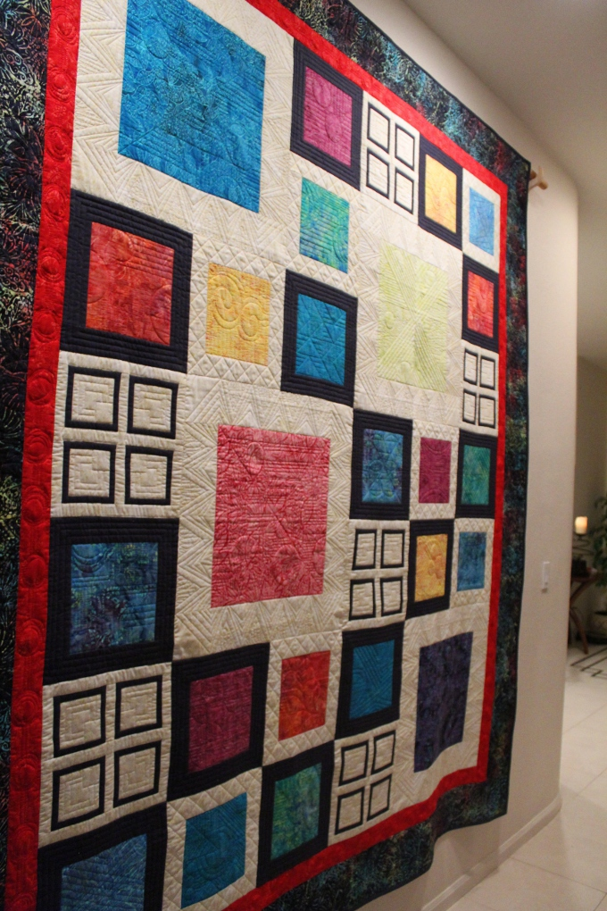 Name:  Full front frm side angle better showing texture of quilting.JPG