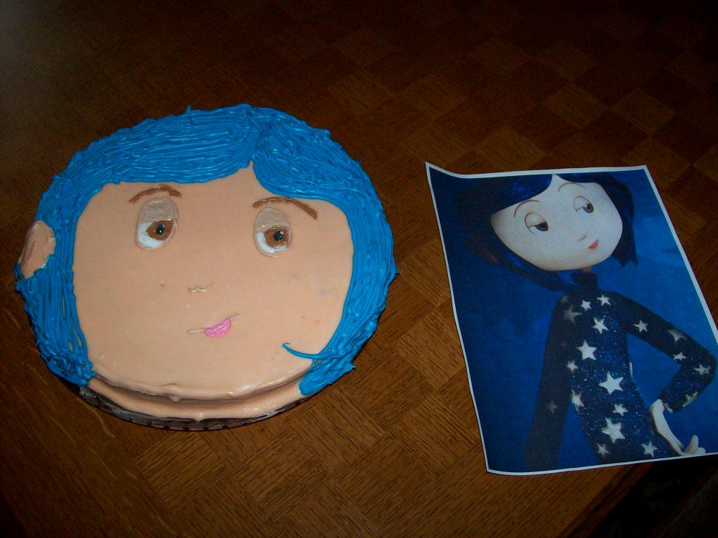 Admirable A Coraline Birthday Cake Quiltingboard Forums Funny Birthday Cards Online Inifodamsfinfo