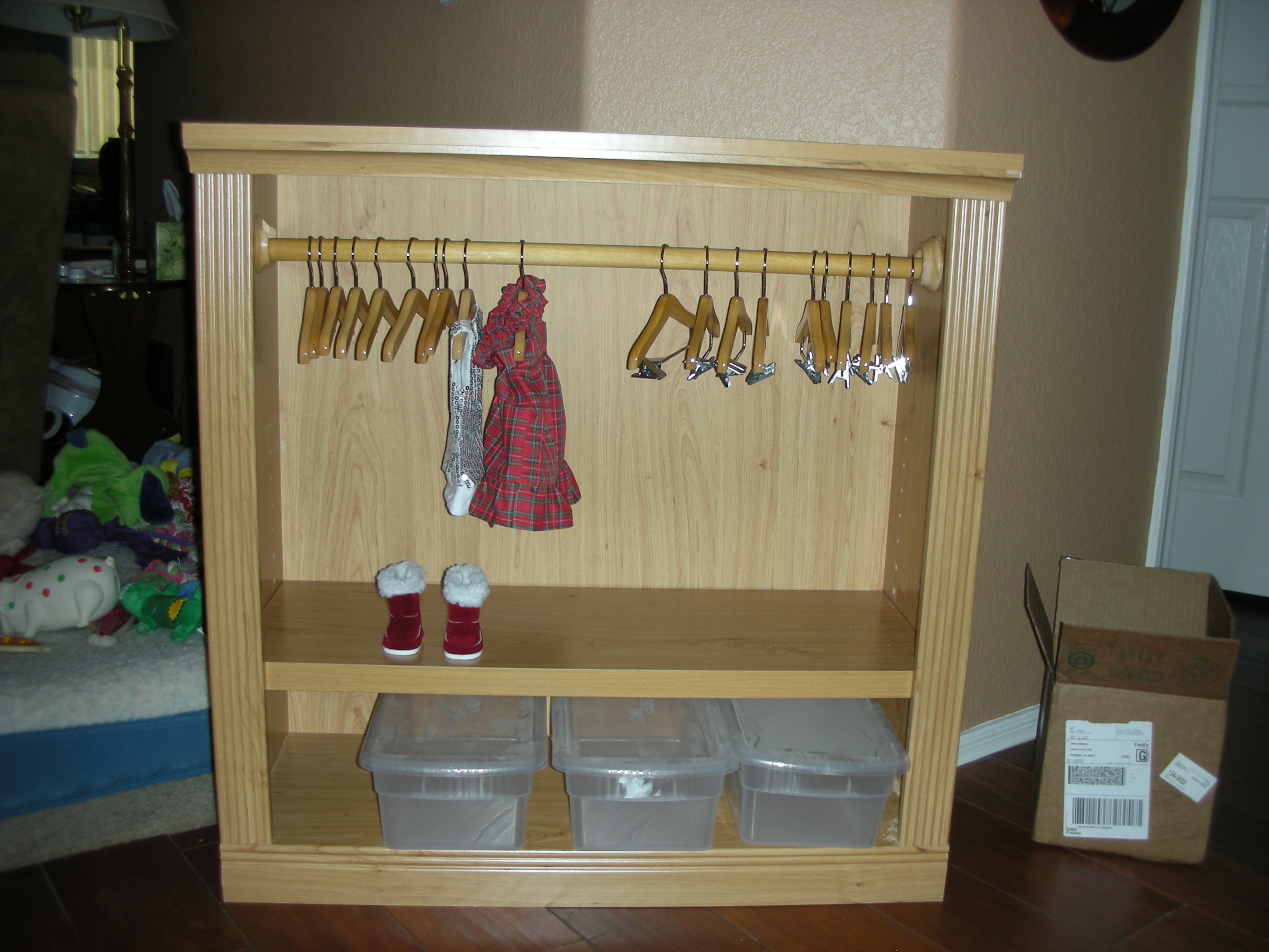 "18"" doll clothes closet/armoire"