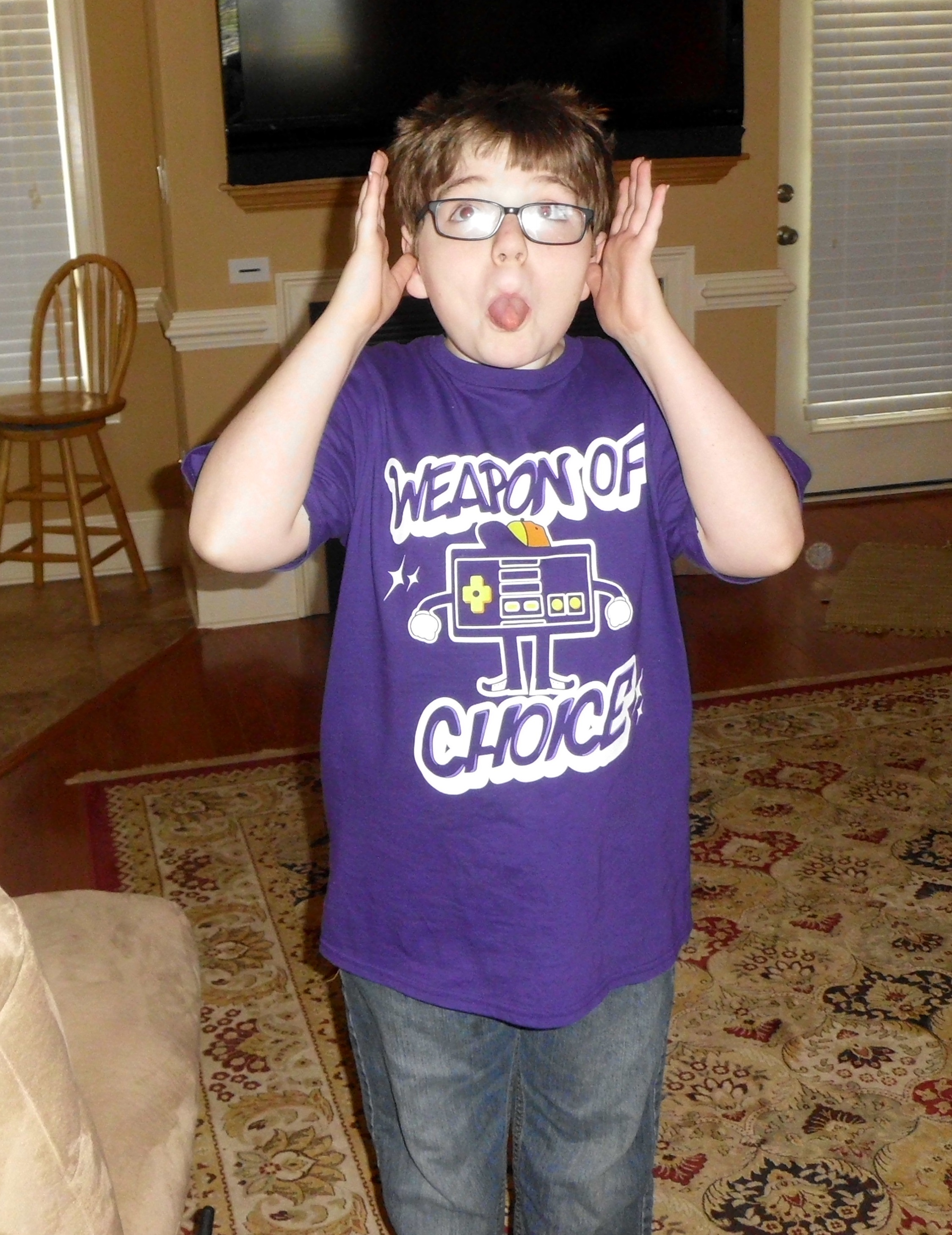 Click image for larger version.  Name:Devin in his new favorite shirt 2.jpg Views:1489 Size:1.44 MB ID:477591