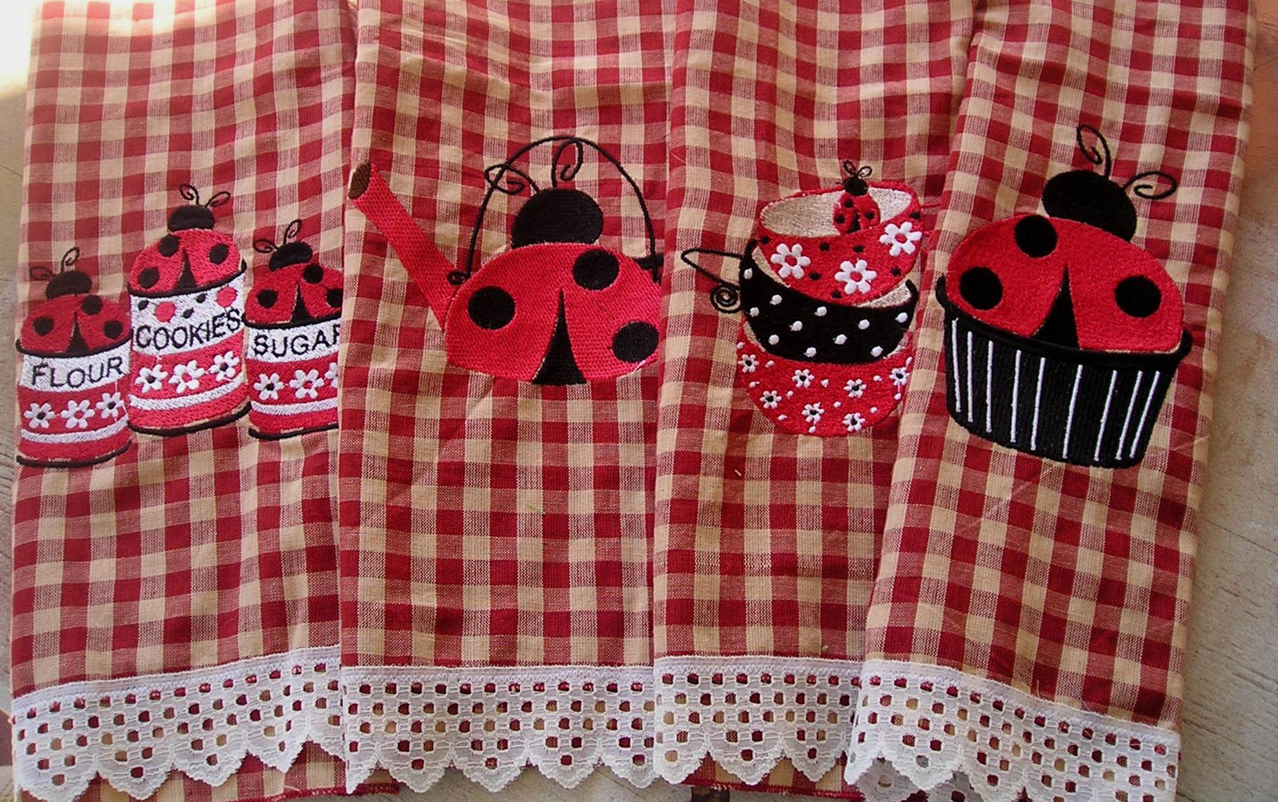 Name:  Embroidered Ladybug Tea Towel Set 1.jpg Views: 741 Size:  451.7 KB
