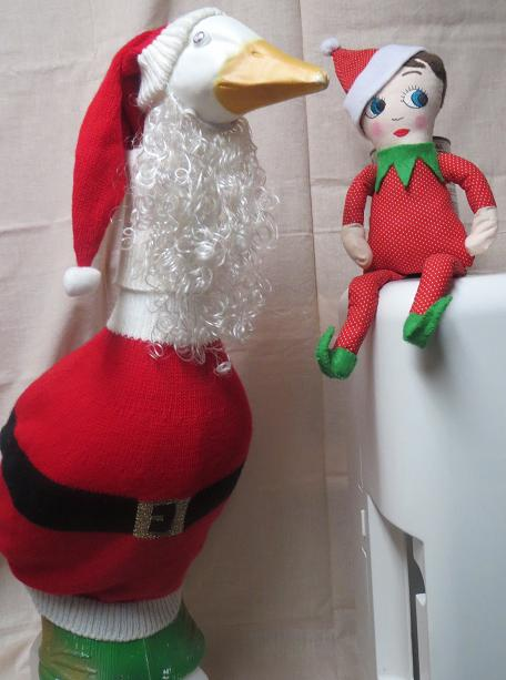 Name:  20141202Ralph the Shelf Elf tells Santa Goose about his new collar and shoes sm.JPG Views: 1629 Size:  45.1 KB
