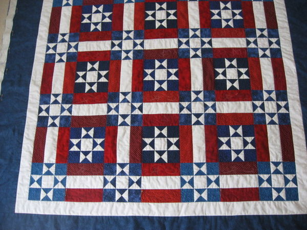 Awesome Red White Blue Quilt With Free Pattern