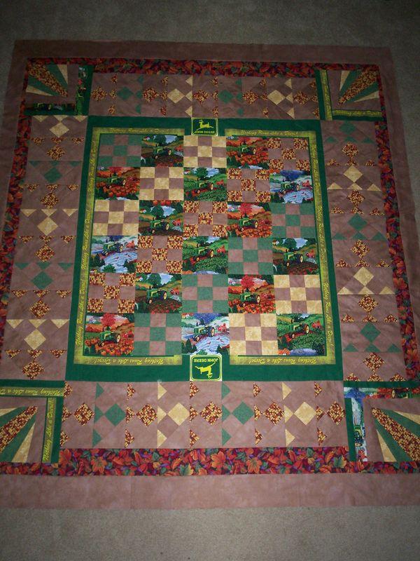 John Deere Quilt Patterns : Ideas for a quilt using john deere fabrics
