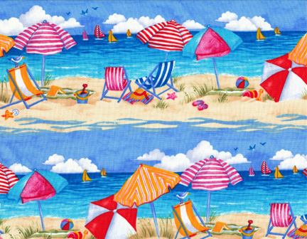 Beach Scene Item Fabric