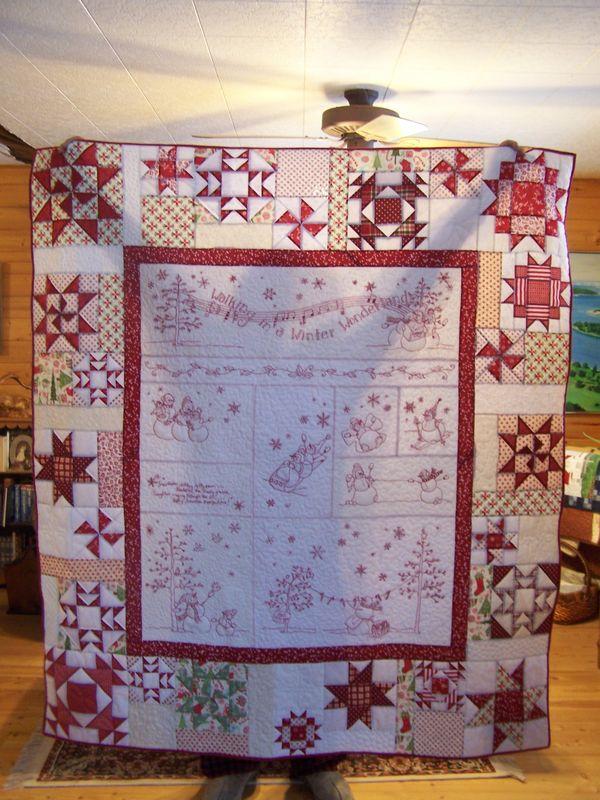 Redwork Quilting Patterns : Redwork Christmas Quilt