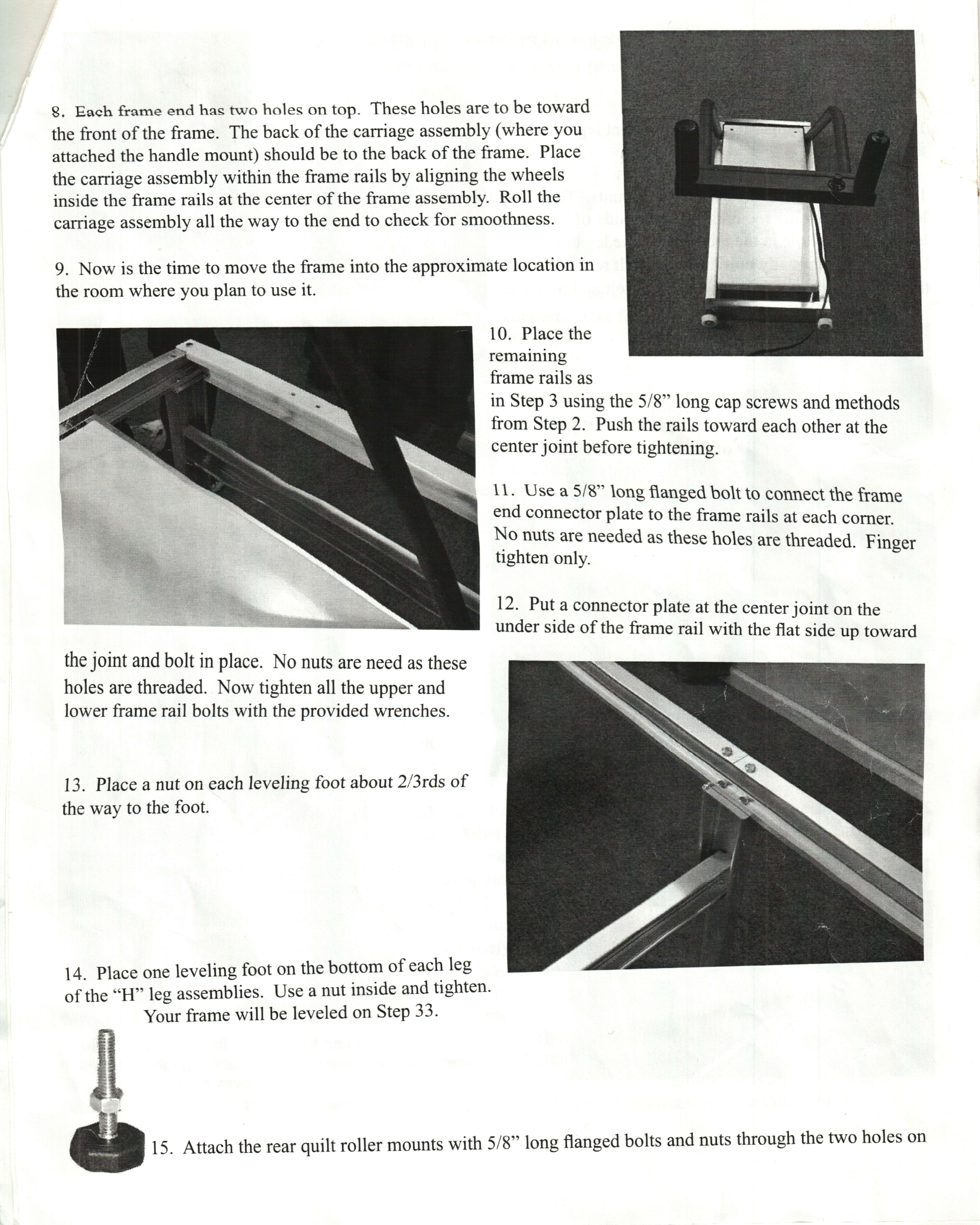 Instructions for the Inspira Frame attached : inspira quilting frame parts - Adamdwight.com