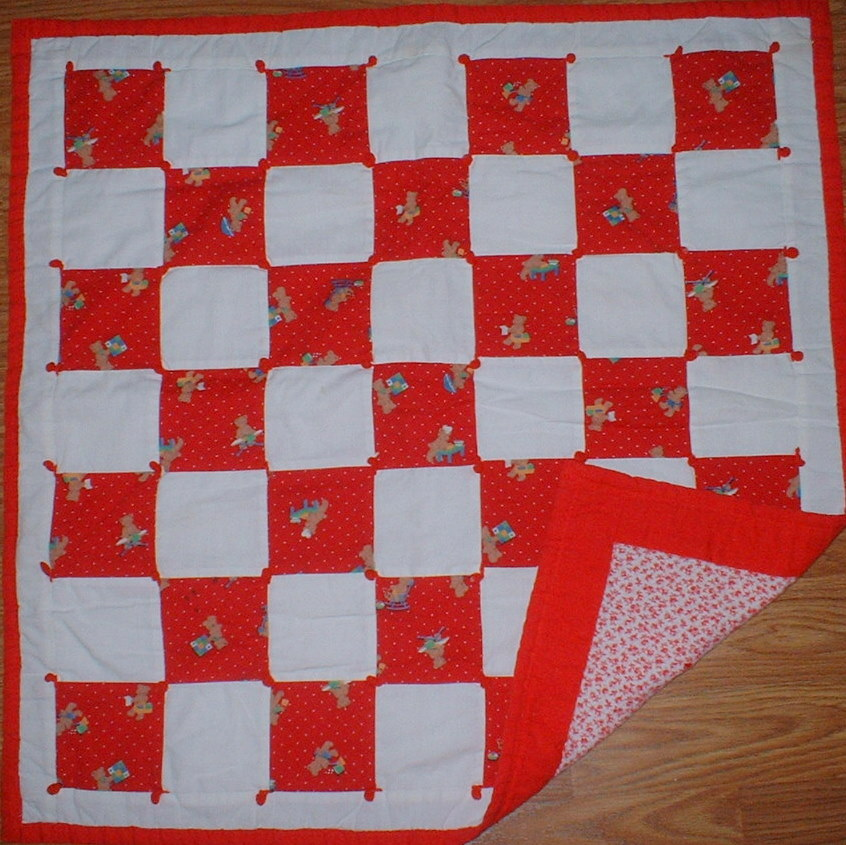 Name:  Thrift shop tied doll quilt.jpg