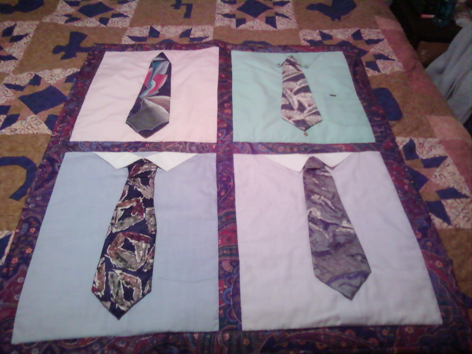 Need Quilt Pattern To Make A Tie Quilt