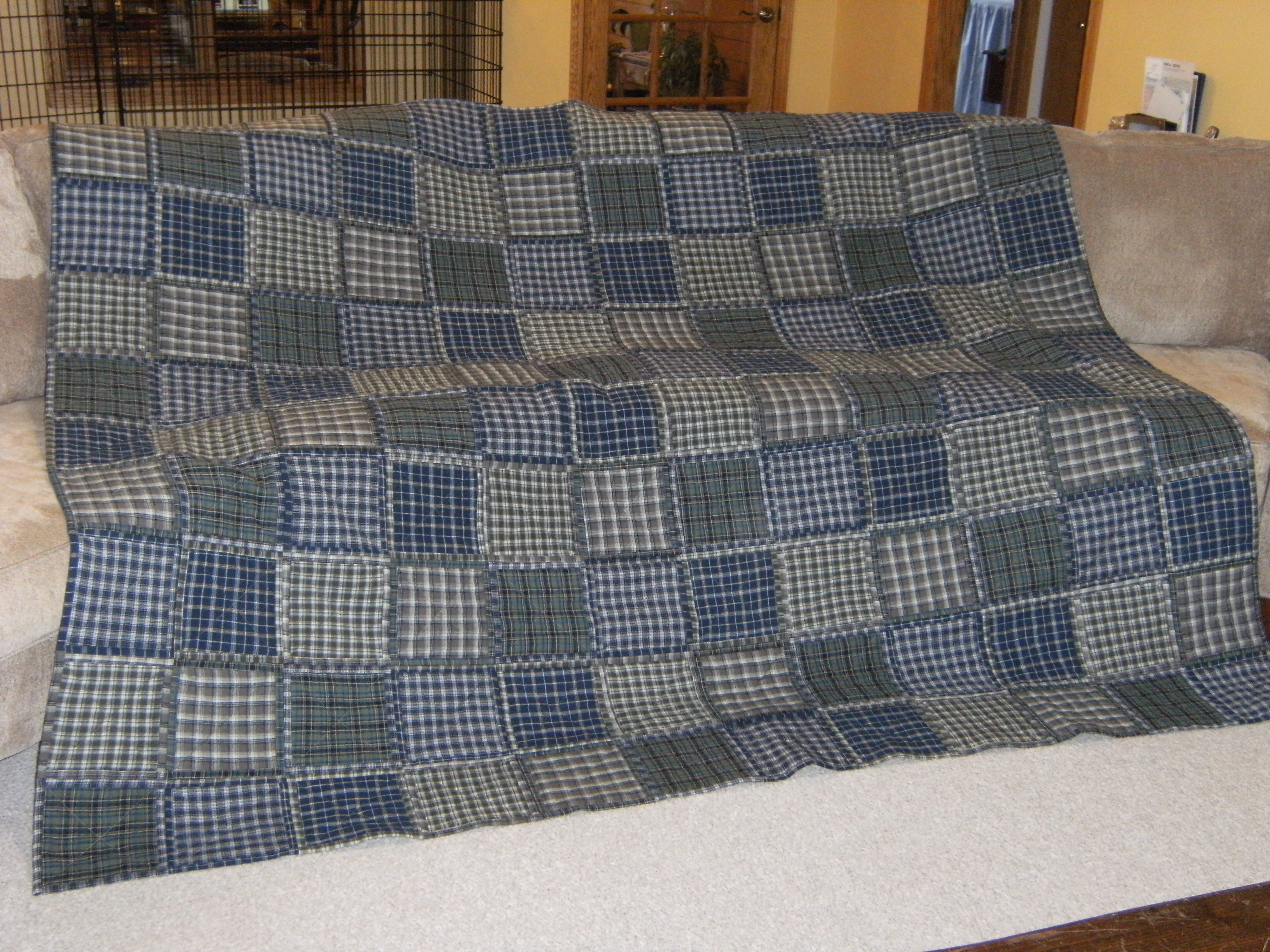 Name:  side one - Katie's flannel quilt.JPG Views: 3008 Size:  1.54 MB