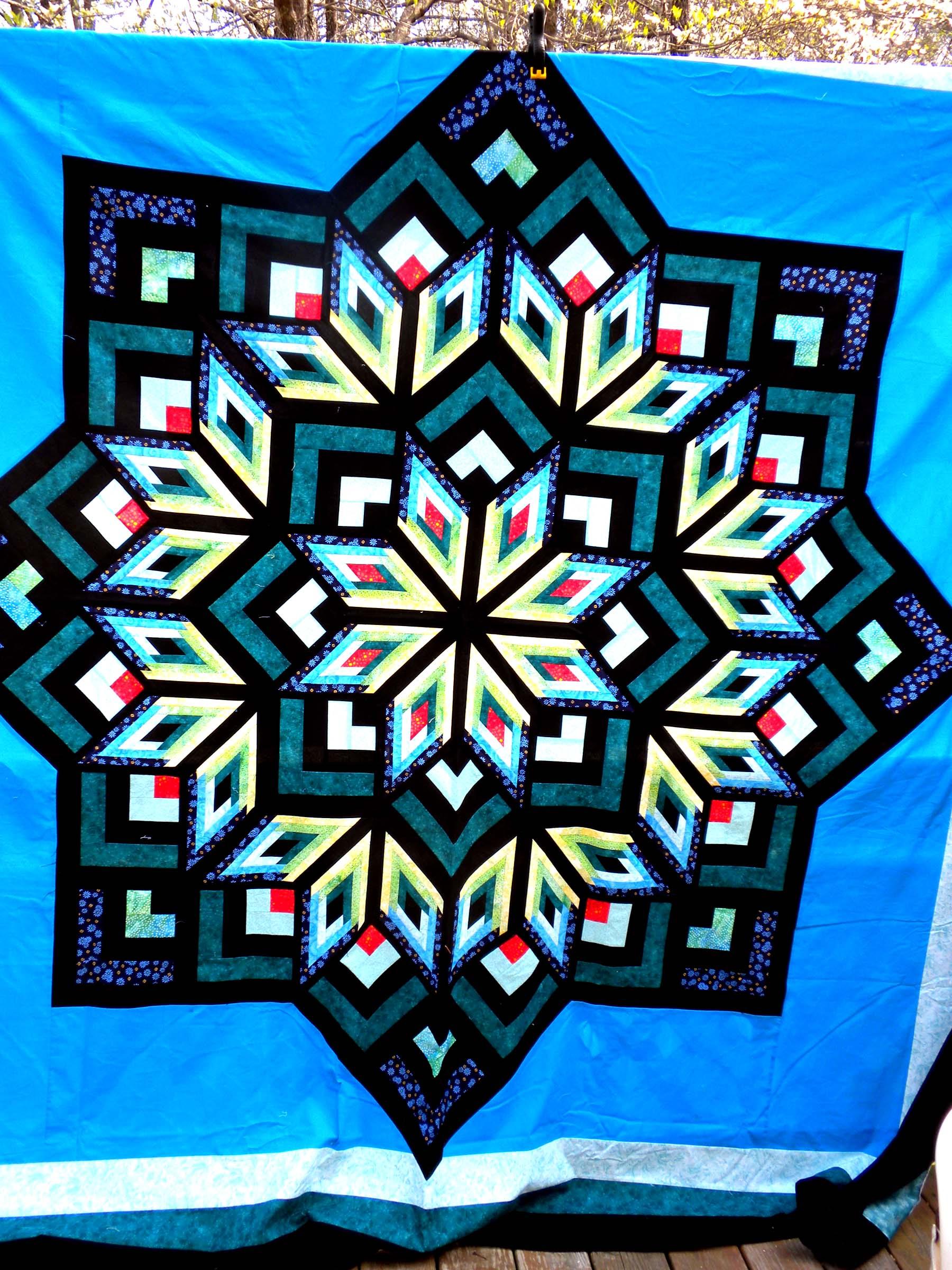 Log Cabin Star Quilt Pattern : log cabin diamond quilt pattern - Adamdwight.com