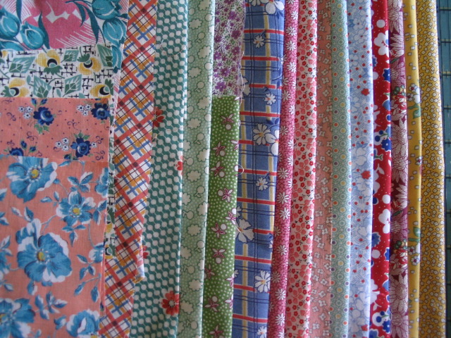 Name:  fabric for 30's SBS swap quilt.JPG