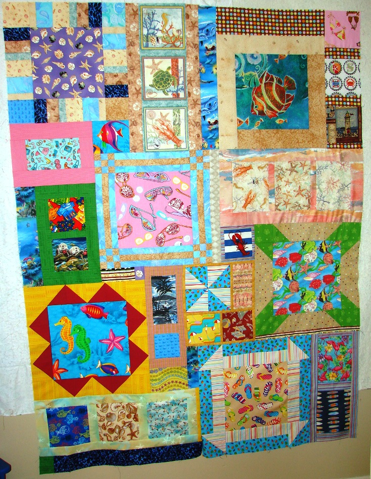 Name:  Beaches Quilt finished piecing top, no borders.jpg
