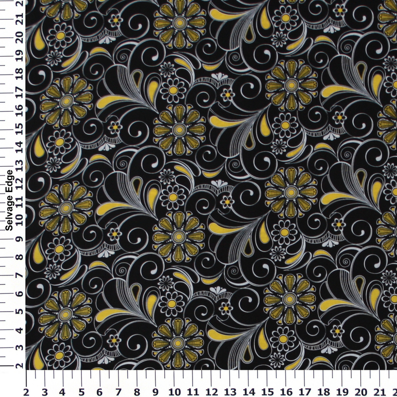 Name:  Yellow and White Flowers on Black Cotton Fabric.jpg Views: 3677 Size:  802.1 KB