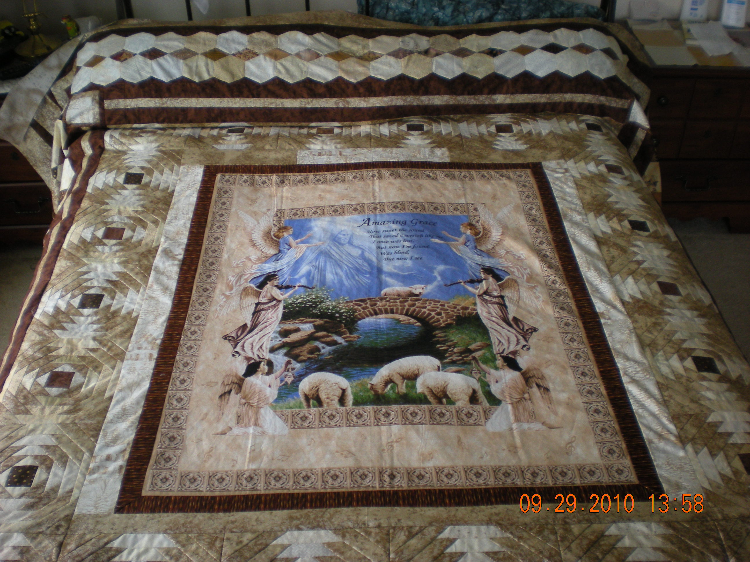 Ideas Wanted For Making Queen Size Quilt With A Panel Please