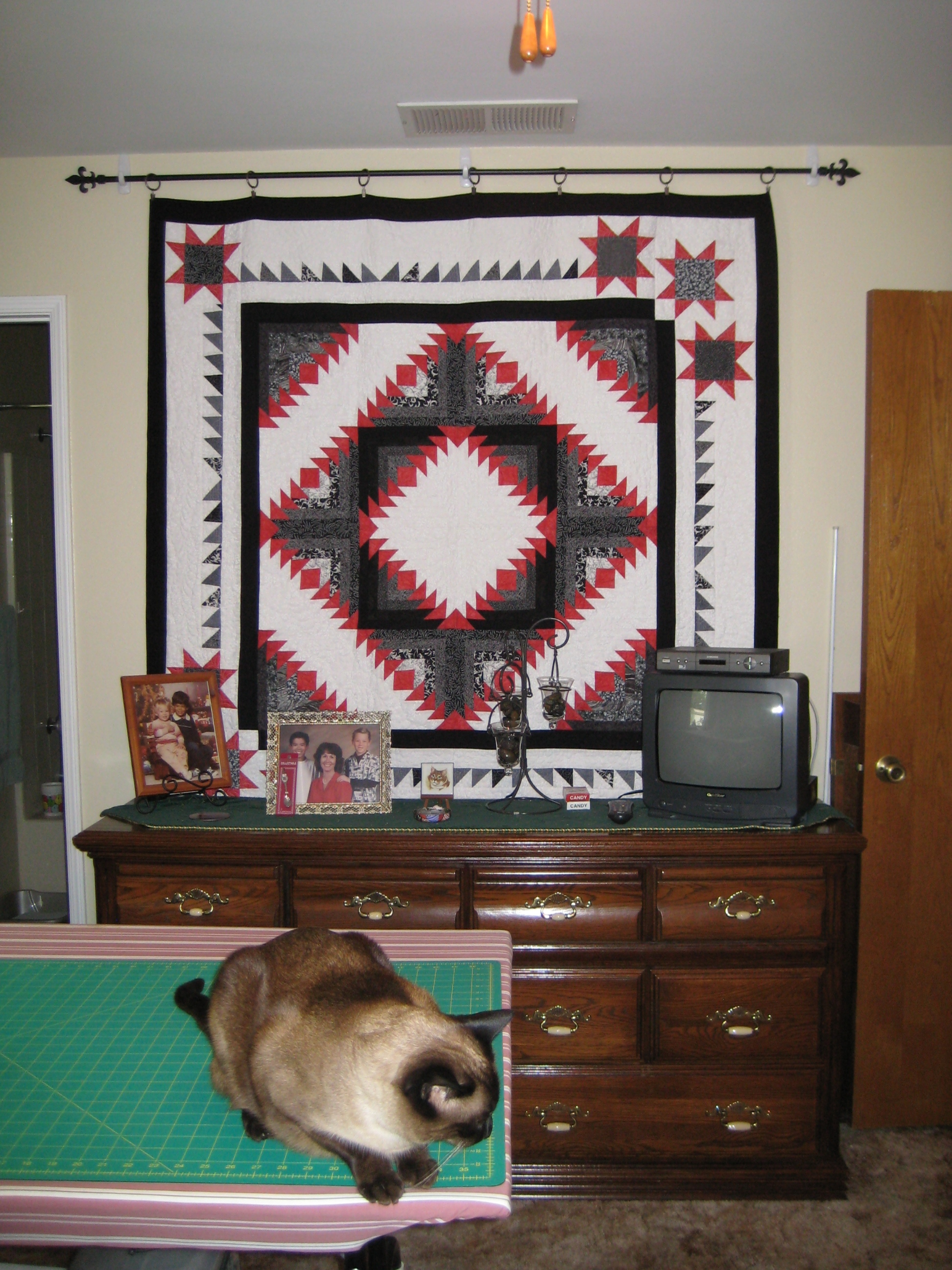 How do you hang your wall quilts without making holes in the wall? : rod to hang quilt on wall - Adamdwight.com