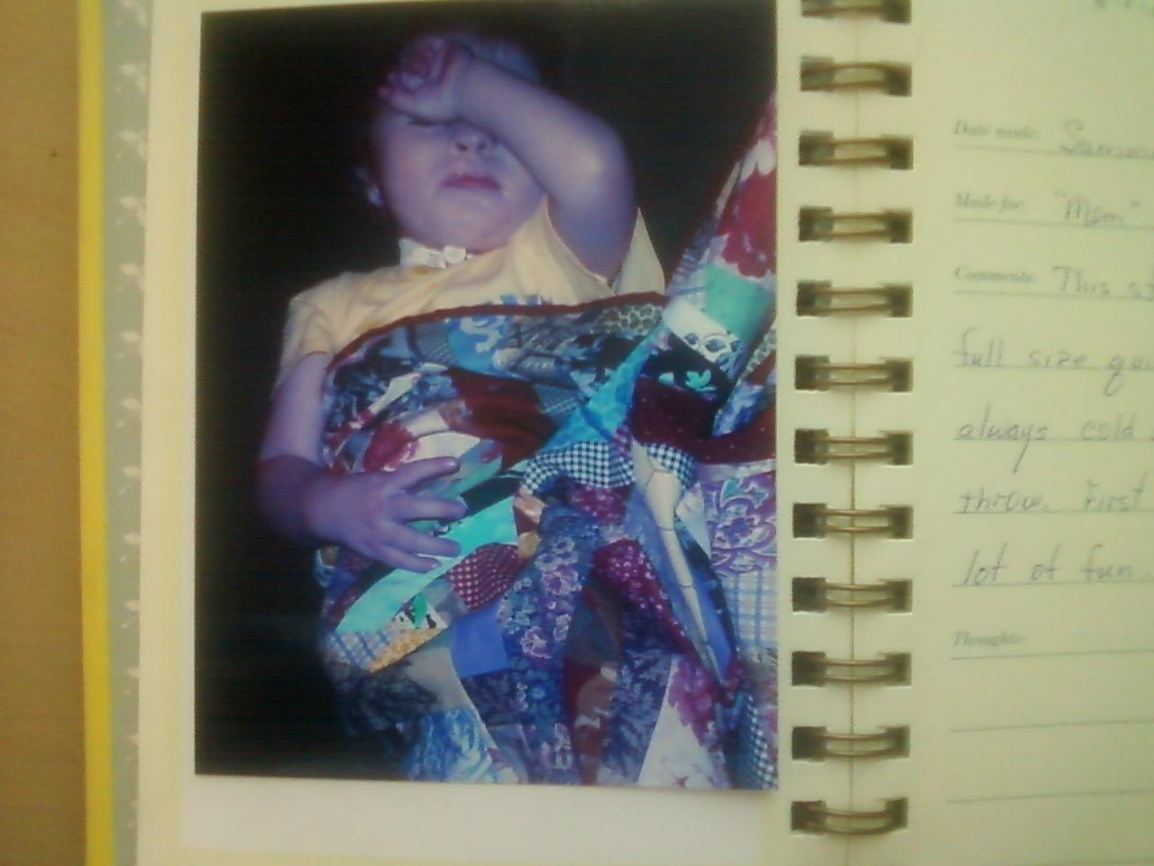 Name:  Brady and 1st quilt Summer 2004.jpeg