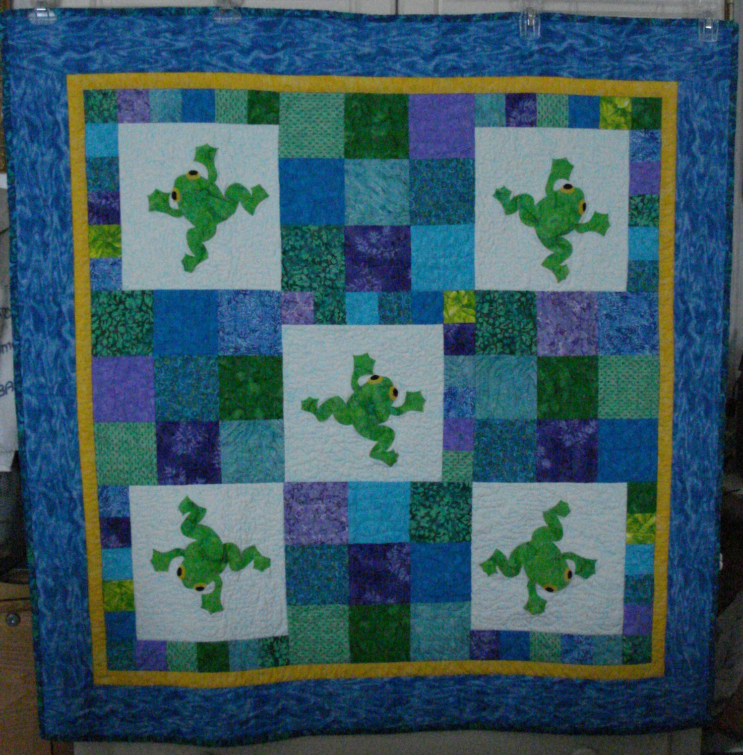 Name:  Tristen's quilt - It's Not Easy Being Green.JPG