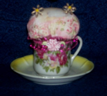 Name:  Rose Cup and Saucer pin cushion.jpg