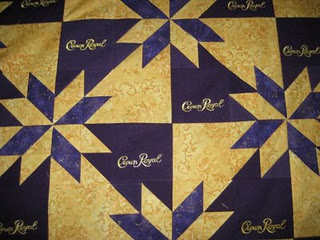 Quilting On Satin With Crown Royal Bags