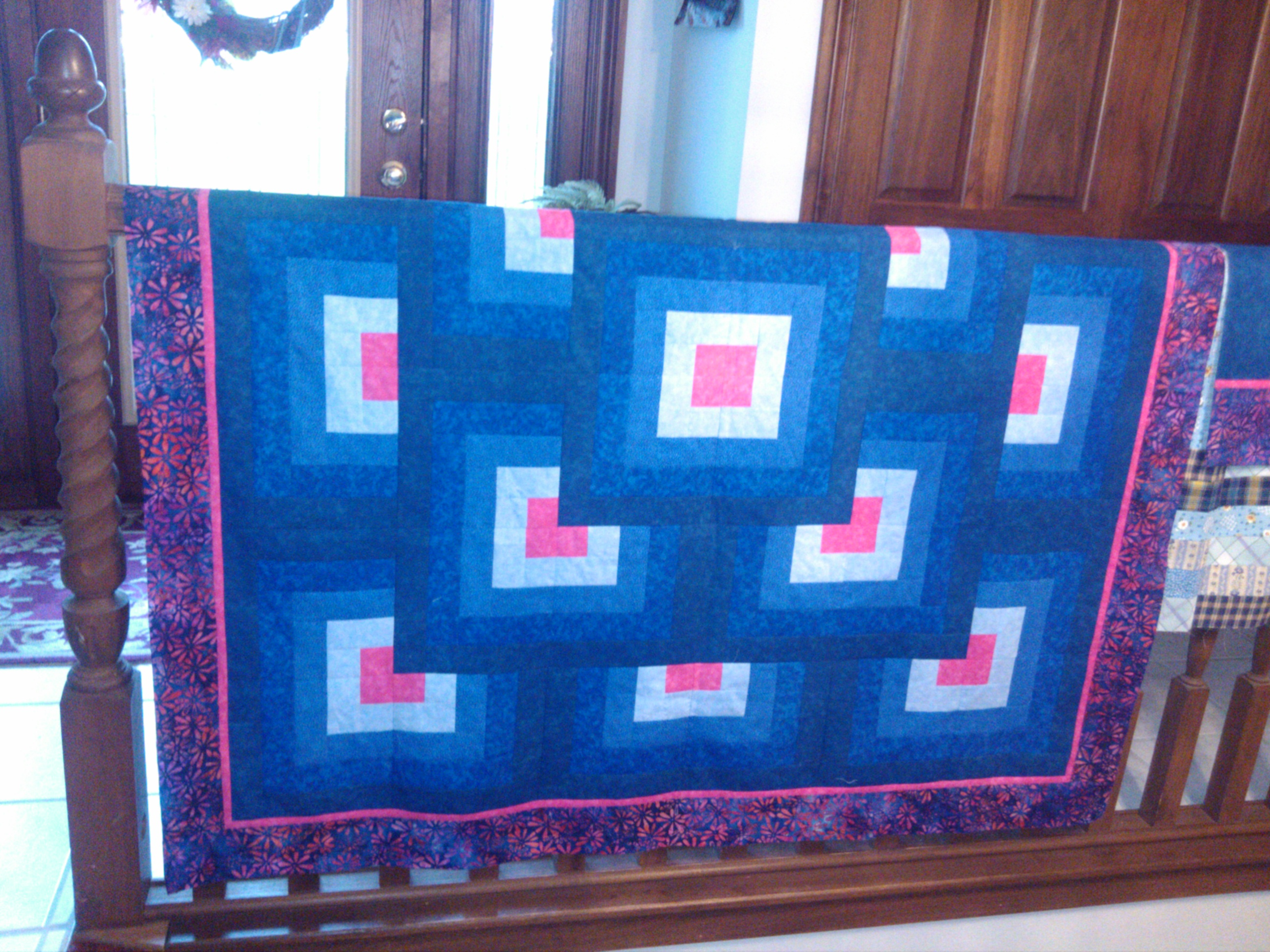 Name:  Thinking Outside the Block - before quilting.jpg