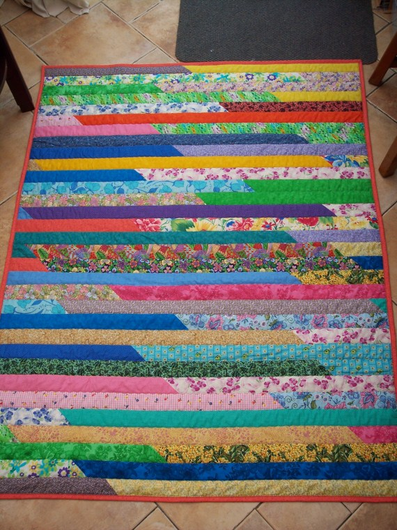 I believe I'm stupid - Jelly Roll Quilt