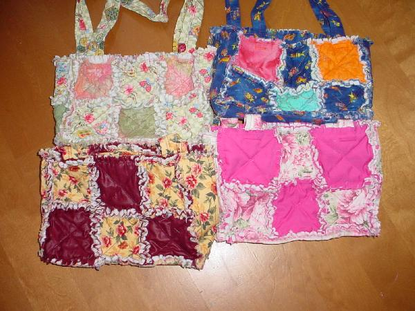 Rag Quilted Handbag Pattern : Rag Quilt tote or purse pattern