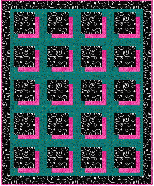 Name:  Shadow Box in zebra teal and fuschia.jpg Views: 838 Size:  232.8 KB