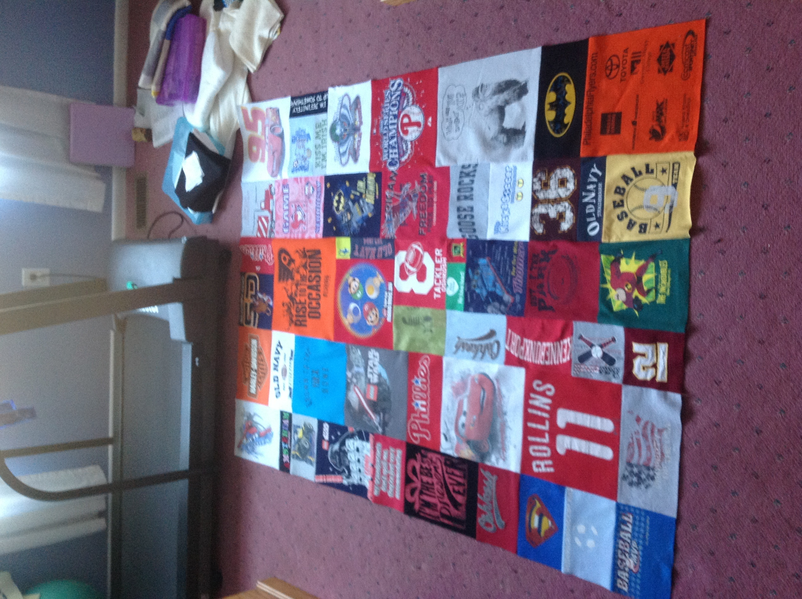 How Do You Piece A Tshirt Quilt Of Different Sized Blocks