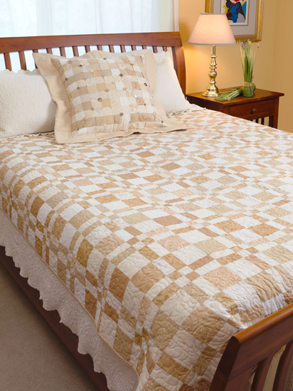 Name:  Disappearing four patch neutrals quilt.jpg Views: 6287 Size:  236.3 KB