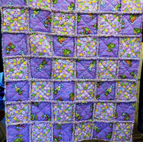 Name:  Purple Frog rag quilt 1.jpg