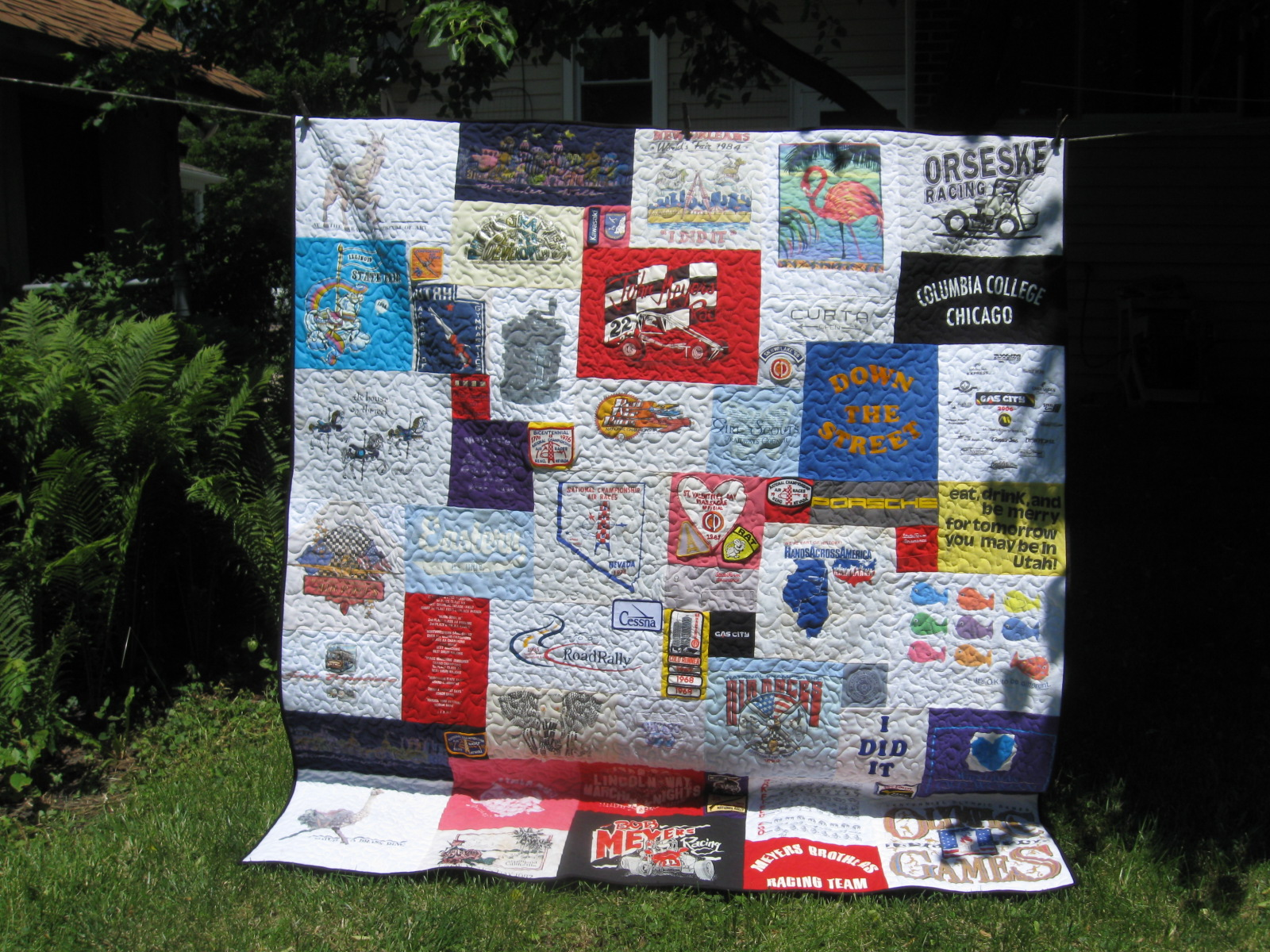 How Do You Make A T Shirt Quilt Without Using Iron On