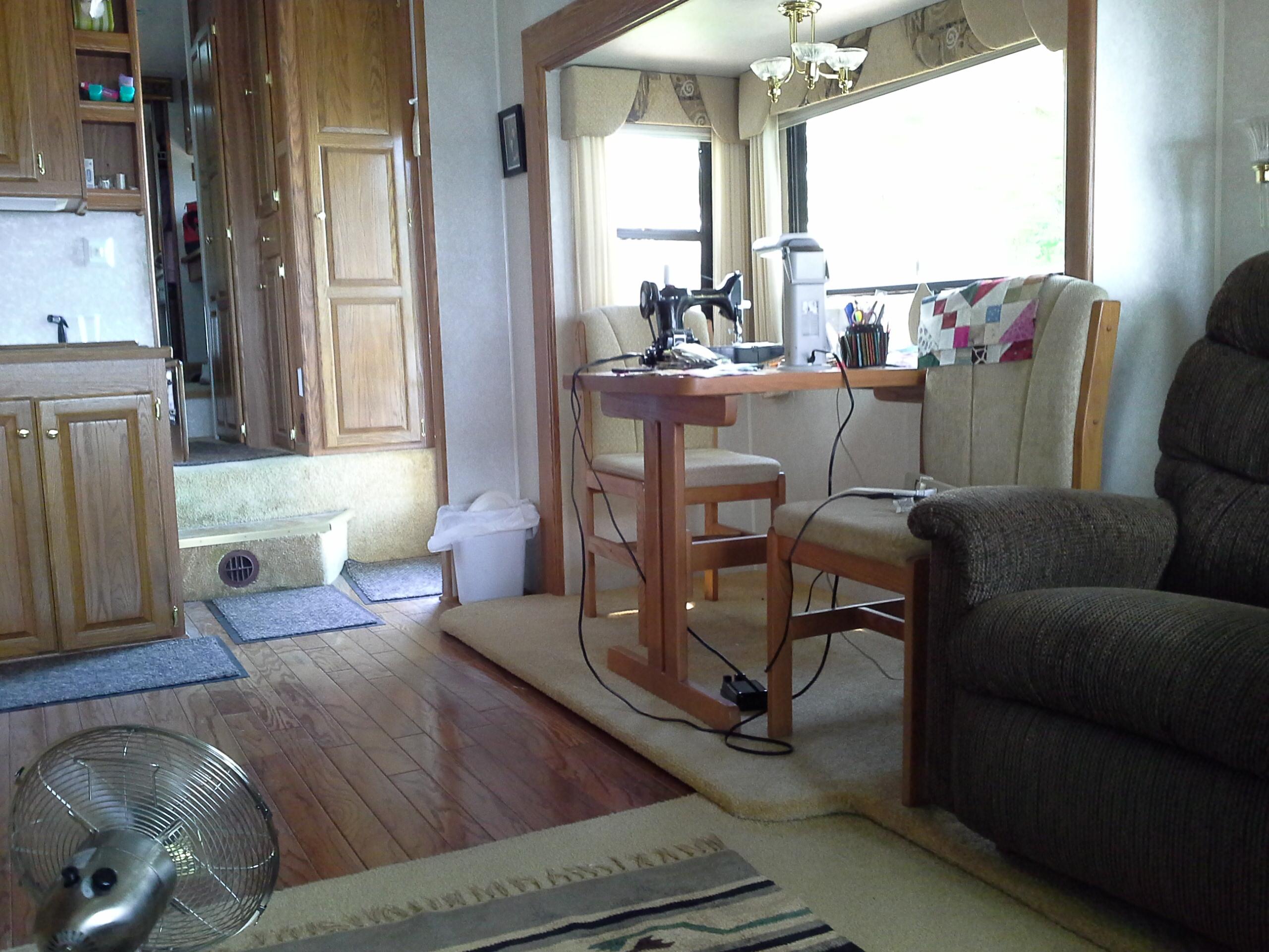 Sewing room in camper