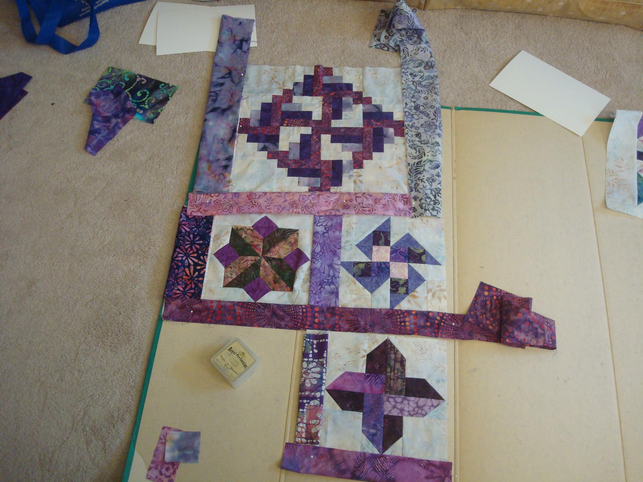 Name:  2015-January-2015-Purple batik quilt border choices 001.jpg Views: 2911 Size:  1.10 MB