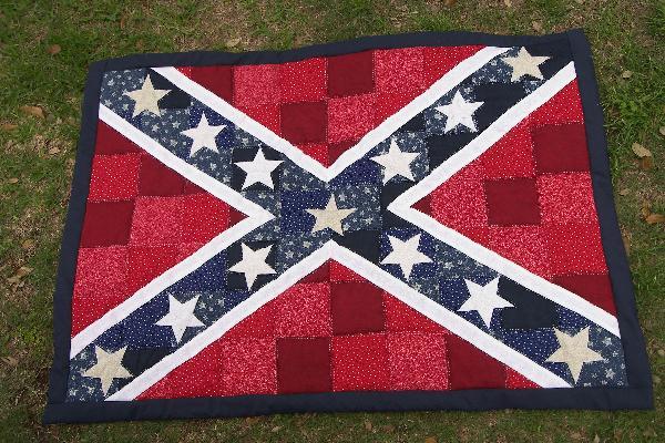 Rebel Flag Quilt Or Block