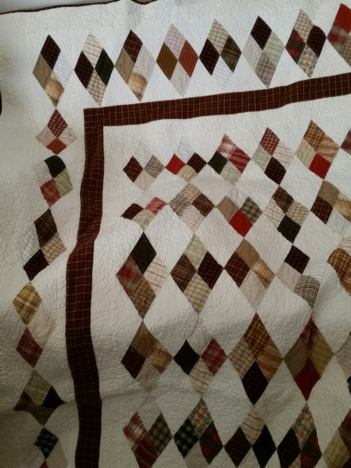 Quilt Patterns For Homespun Fabric : Homespun quilt pattern