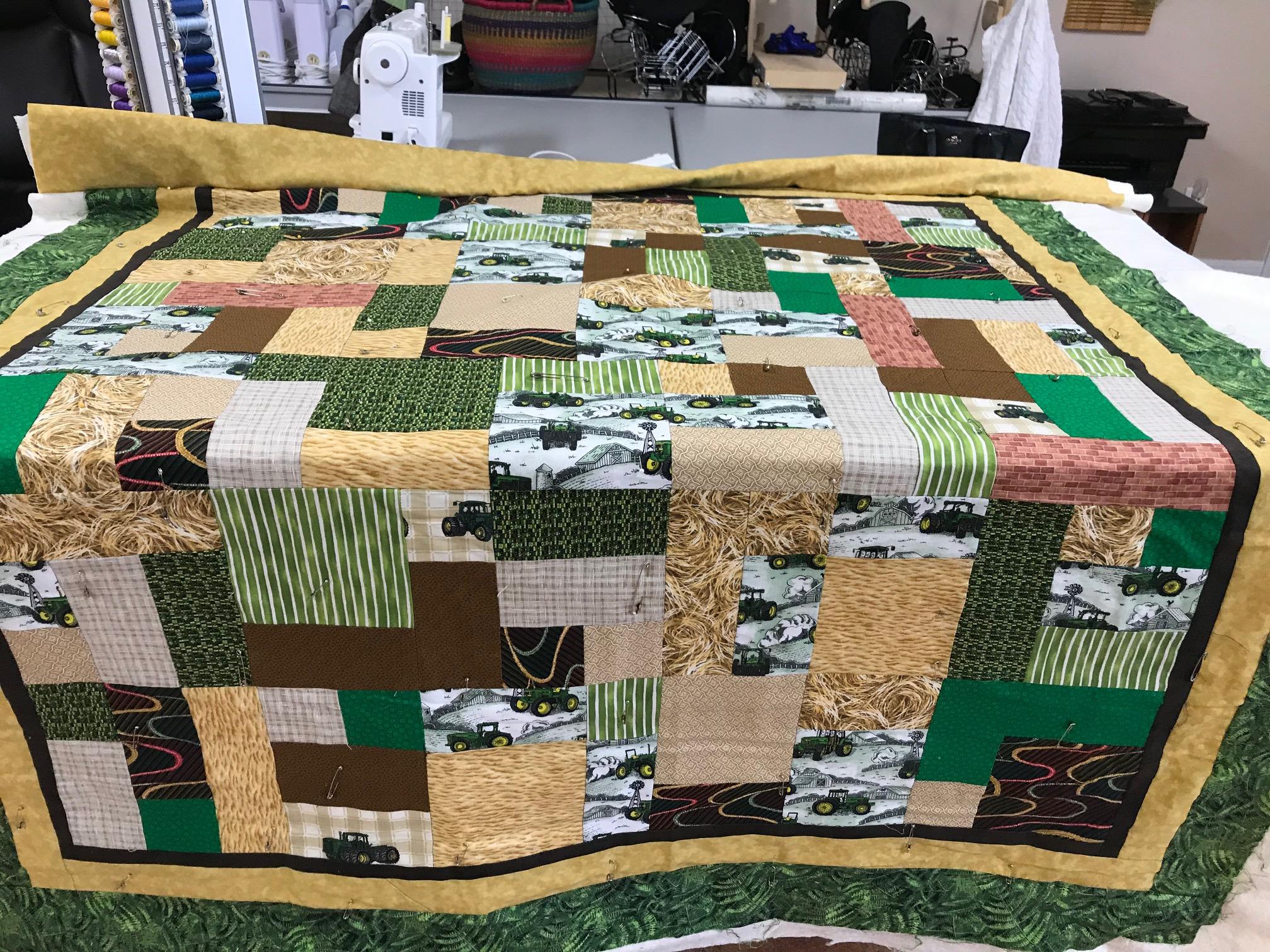 Need Advice On Quilt Design For John Deere Quilt