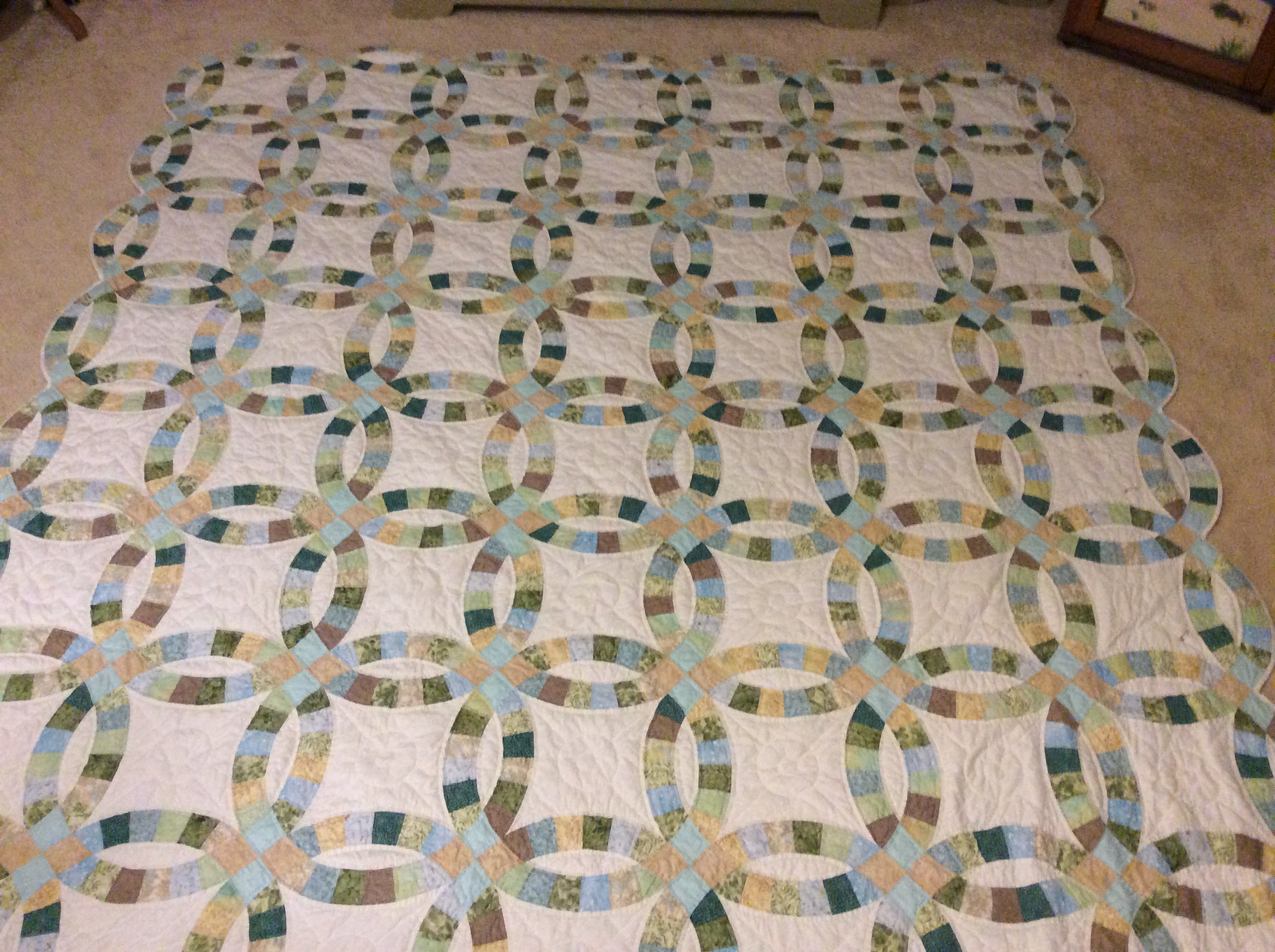 Double Wedding Ring Pattern Quiltingboard Forums