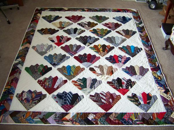 Looking for a men 39 s tie pattern for What to do with an old quilt