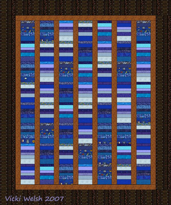 Need Quilt Pattern Using Different Shades Of Blue