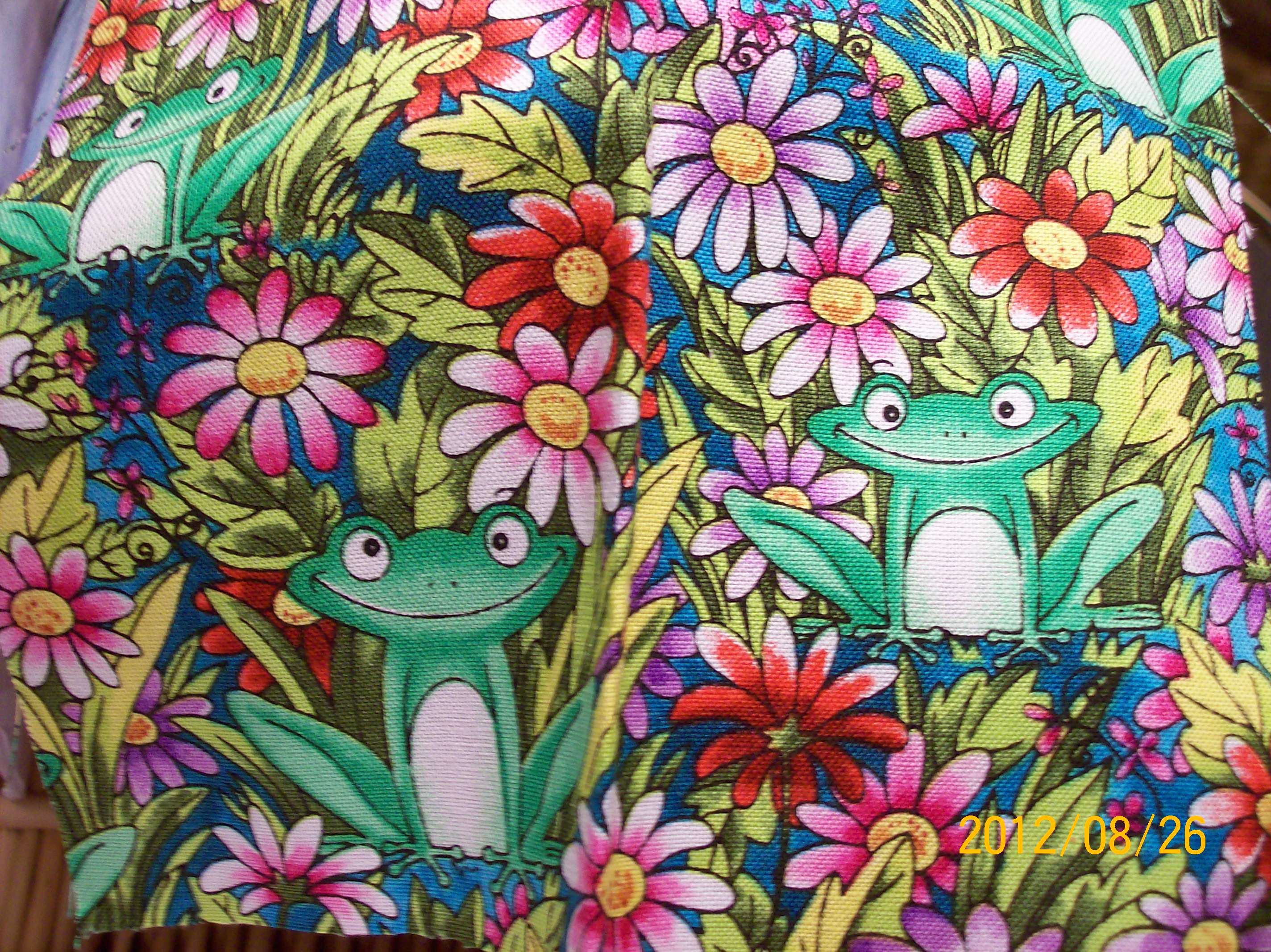 Name:  My Frog Fabric 001.JPG