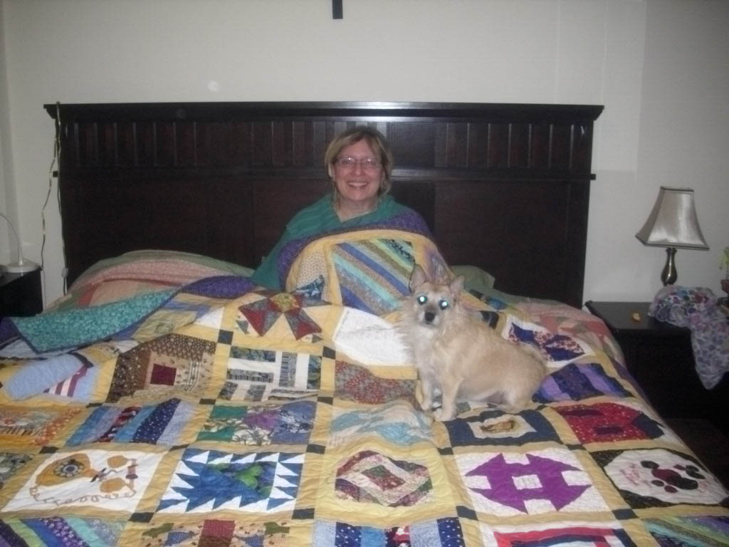 Name:  Doll Quilt Group Quilt in bed.jpg