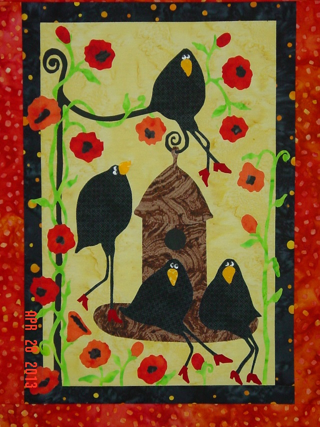 Name:  out to lunch crow quilt 4-28-13 009.JPG