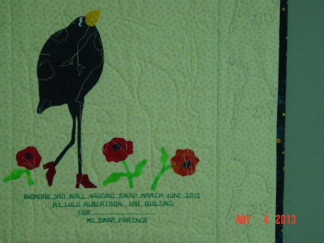 Name:  finished crow wall hanging 017.JPG