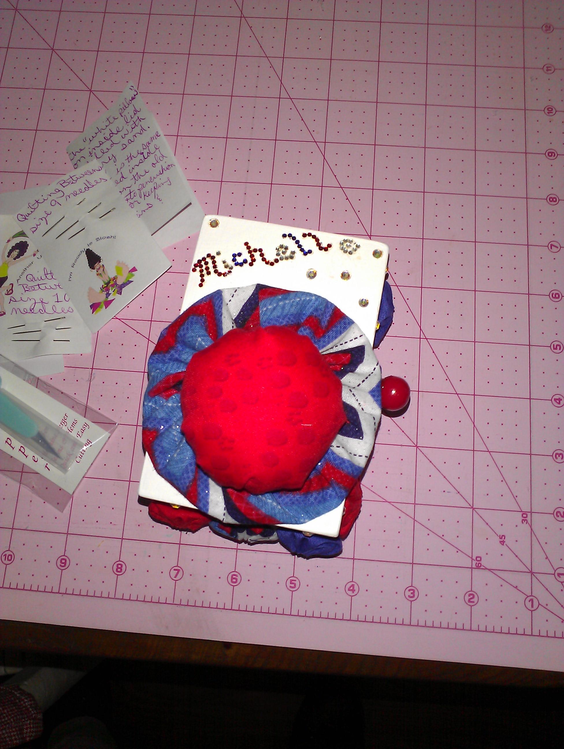 Name:  June 13 pin cushion - quilty louise 1.jpg Views: 138 Size:  890.0 KB